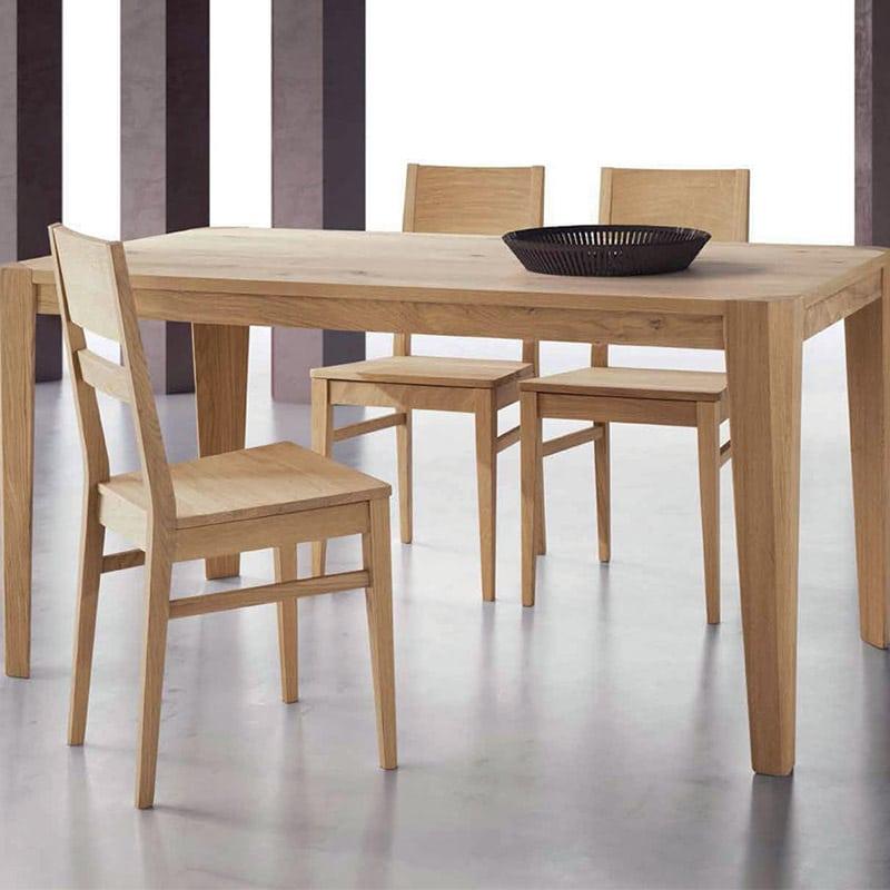 Tavolo Moderno In Rovere.Tavolo Scalpello Legno Rovere Mobilificio Bertoli